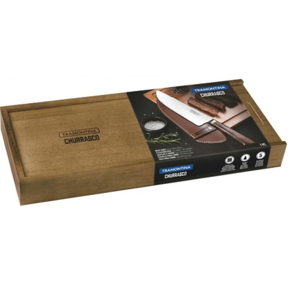 Нож для мяса TRAMONTINA Barbecue POLYWOOD (29899/550) Материал нержавеющая сталь