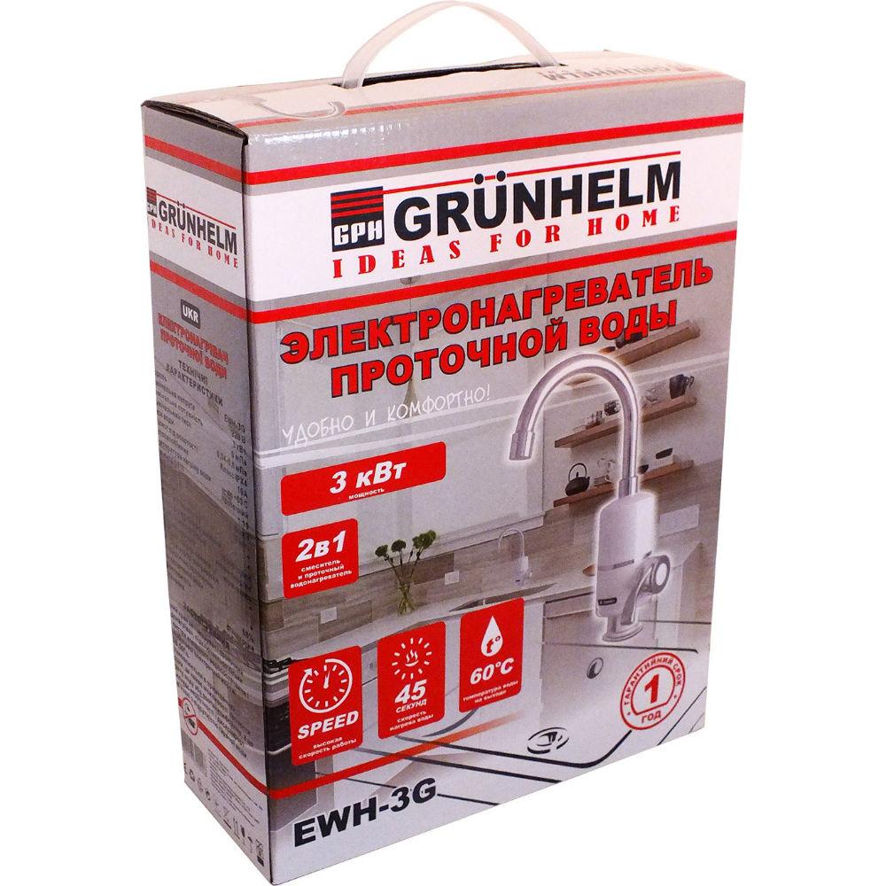 Проточный водонагреватель GRUNHELM EWH-3G Тип водонагревателя электрический