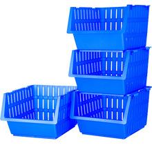 Набір кошиків VIOLET HOUSE 1021 Бамбу Blue 4 шт