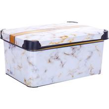 Контейнер для зберігання VIOLET HOUSE DECOR Marble White (0646)
