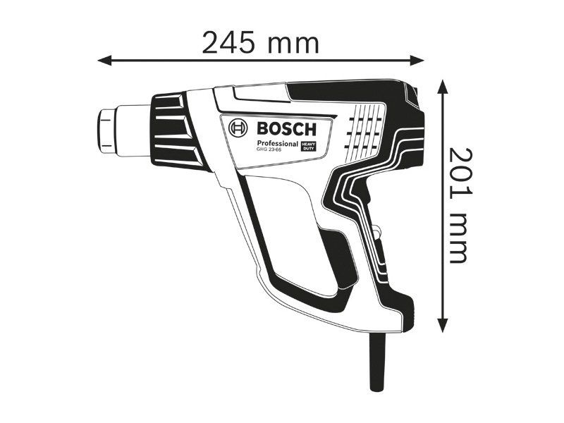 Технический фен BOSCH GHG 23-66 (84117) Рабочая температура (min/max) 50