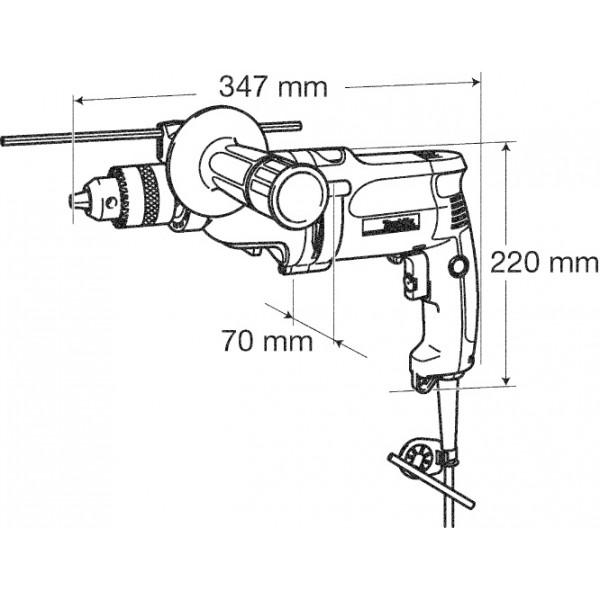 Дрель MAKITA DP4011 720 Вт (DP4011) Тип патрона быстрозажимной