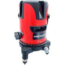 Лазерний рівень PROTESTER, 2 лінії 1H / 1V Червоний Промінь (LL602R)