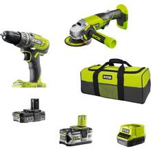 Набор инструментов Ryobi ONE+ R18DDAG-252S: шуруповерт R18DD3, УШМ R18AG (5133003819)