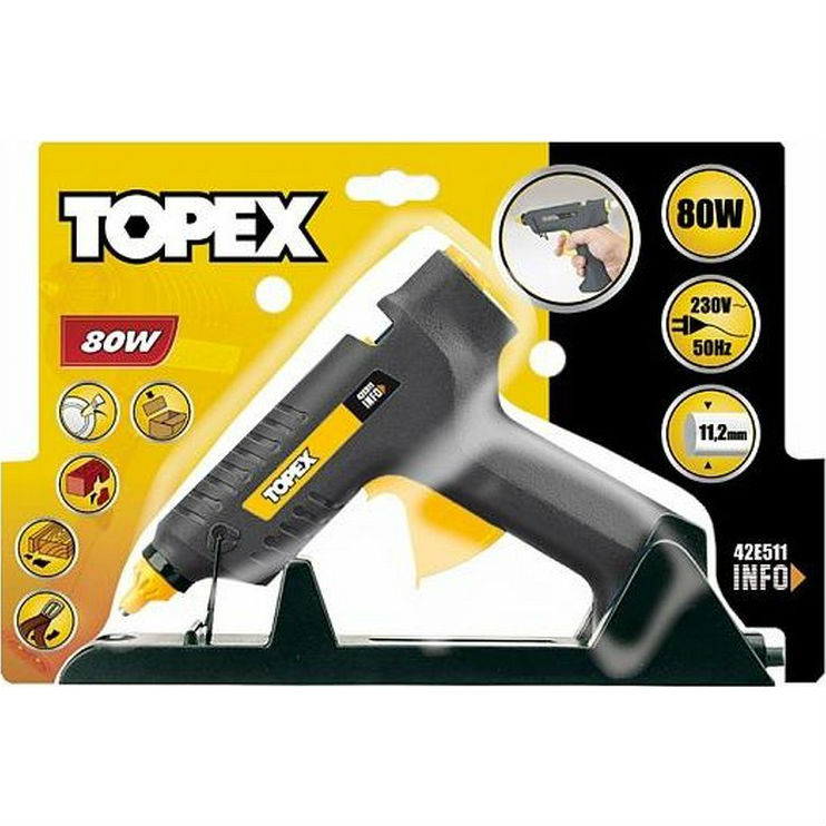 Клеевой пистолет TOPEX (42E511) Мощность 80