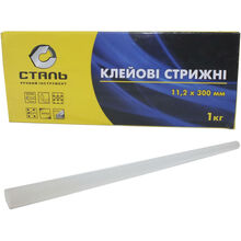Клеевые стержни СТАЛЬ 80170 11.2 х 300 мм 1 кг Transparent (97524)
