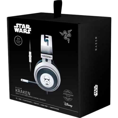 Гарнитура Razer Kraken Stormtrooper Edition White (RZ04-02830600-R3M1) Конструкция полноразмерные (полный обхват уха)