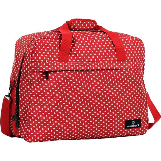 Сумка дорожная MEMBERS Essential On-Board Travel Bag 40 Red Polka (SB-0036-RP)