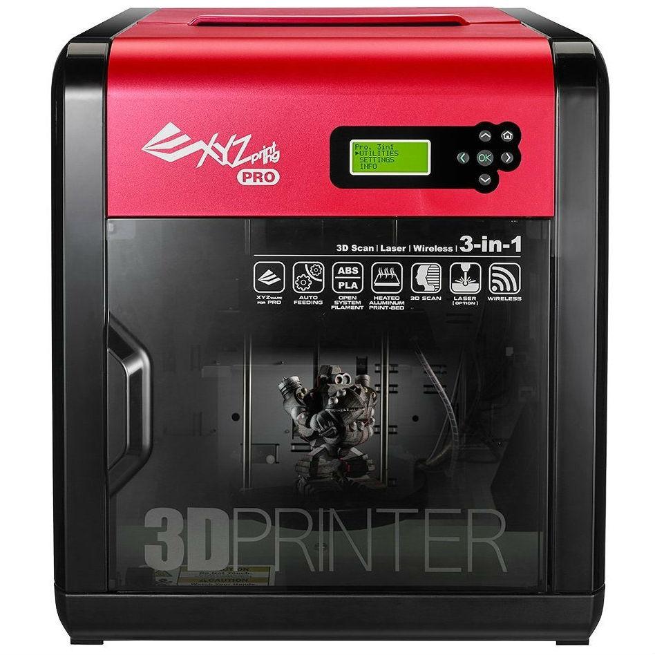 3D-принтер XYZPRINTING da Vinci 1.0 PRO 3-in-1 WiFi (3F1ASXEU01K) Дополнительно сканер с разрешением 2140 точек/см2