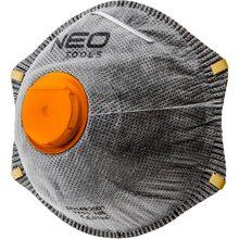 Пылезащитная полумаска Neo Tools с активированным углем FFP2 с клапаном 3 шт (97-301)