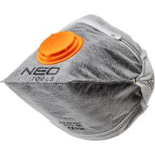 Пылезащитная полумаска Neo Tools складная с активированным углем FFP1 с клапаном 3 шт (97-311)