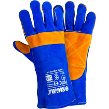 Перчатки Sigma сварщика класс A Сине-желтые (9449321)