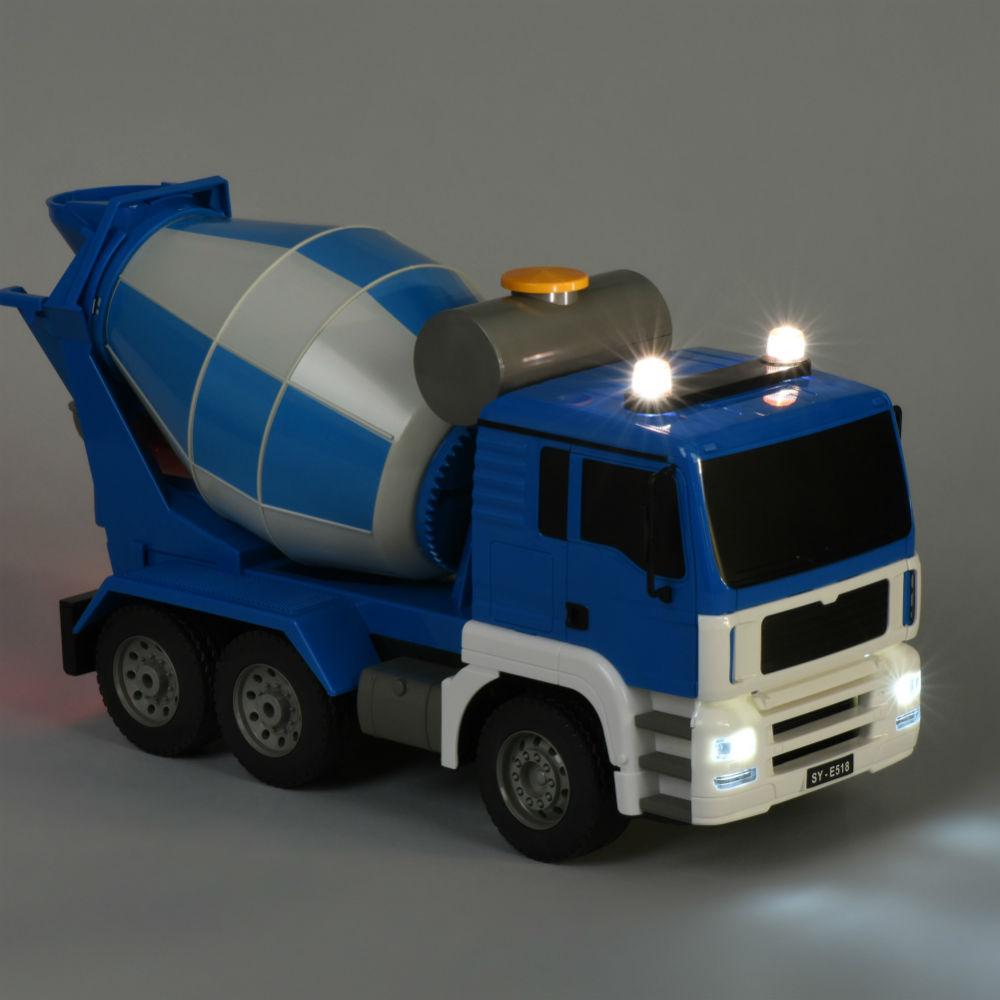 Бетономішалка SAME TOY синя (E518-003) Живлення моделі - акумулятор, пульта - 2xAA