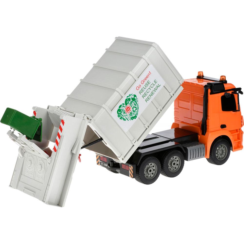 Сміттєвоз SAME TOY (E560-003) Комплектація Сміттєвоз, сміттєвий контейнер, зарядний пристрій, пульт управління.