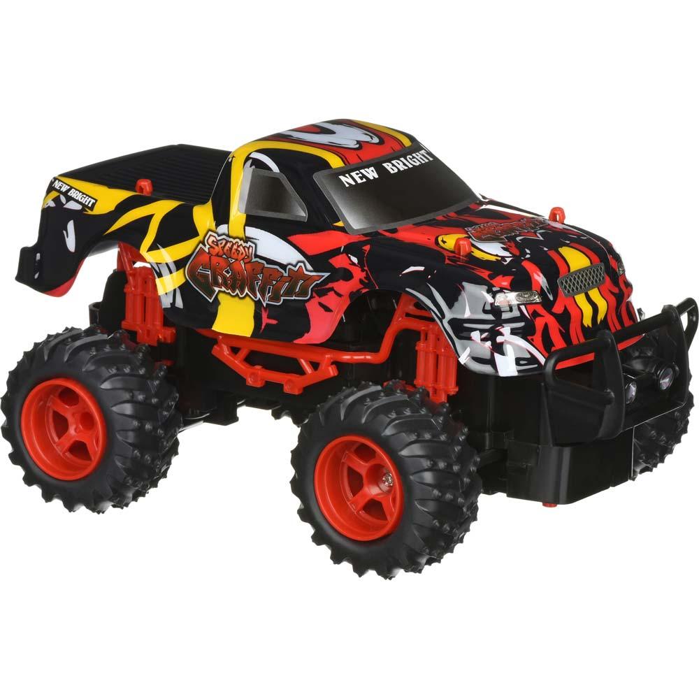 Машинка на р/у New Bright GRAFFITI TRUCK 1:24 Yellow (2408F-1) Призначення монстр (monster truck)
