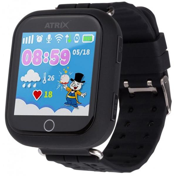 Смарт-годинник для дітей ATRIX Smart watch iQ100 Touch Black