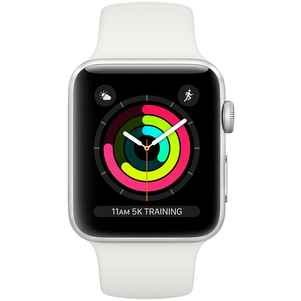 Смарт-часы APPLE Watch Series 3 GPS 38mm Silver Aluminium Case with White Sport Band (MTEY2FS/A) Функциональность для взрослых