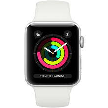Смарт-годинник APPLE Watch Series 3 GPS 38mm Aluminium Silver Case with White Sport Band (MTEY2FS/A)