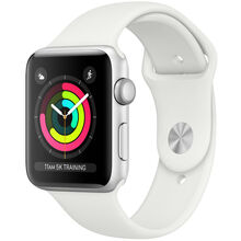 Смарт-часы APPLE Watch Series 3 GPS 38mm Silver Aluminium Case with White Sport Band (MTEY2FS/A)