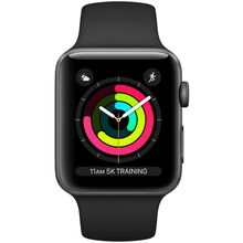 Смарт-годинник APPLE Watch Series 3 GPS 42mm Space Aluminum Grey Case with Black Sport Band (MTF32FS/A)