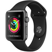 Смарт-часы APPLE Watch Series 3 GPS 42mm Space Grey Aluminum Case with Black Sport Band (MTF32FS/A)
