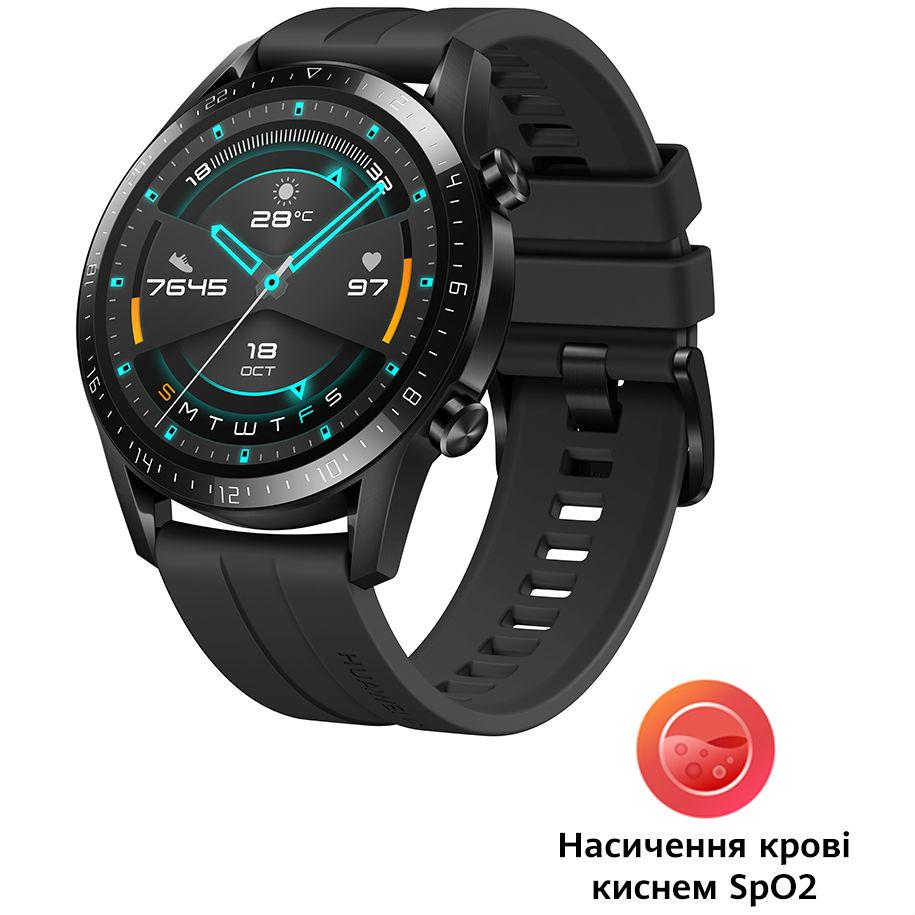 Смарт-часы HUAWEI Watch GT 2 Sport Black (55024474) Функциональность для взрослых
