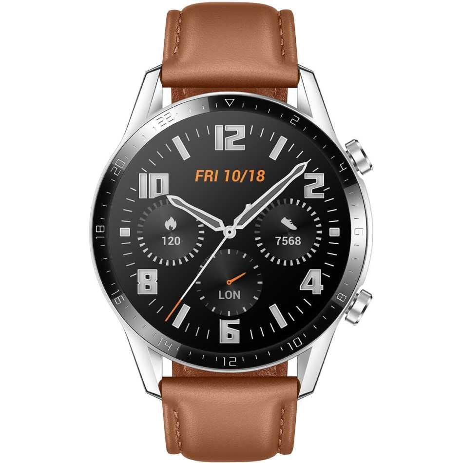 Смарт-часы HUAWEI Watch GT 2 Classic Silver (55024470) Совместимость Android OS