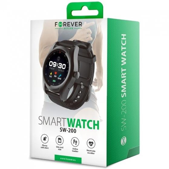 Смарт-часы FOREVER SW-200 Black (GSM036548) Совместимость Android OS