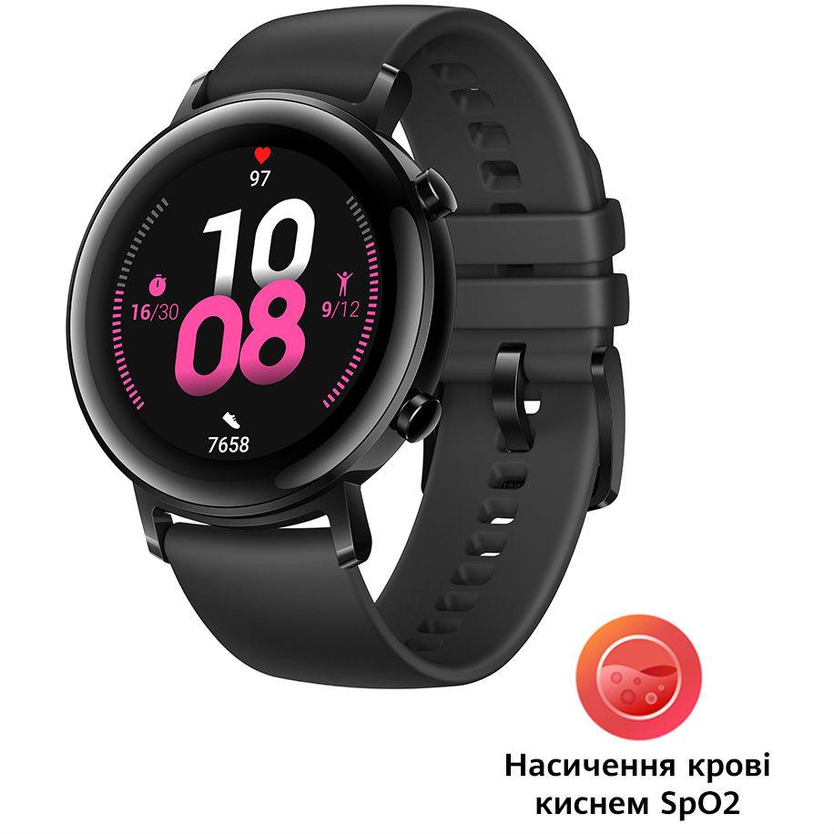 Смарт-часы HUAWEI Watch GT 2 42mm Sport Edition Black Функциональность для взрослых