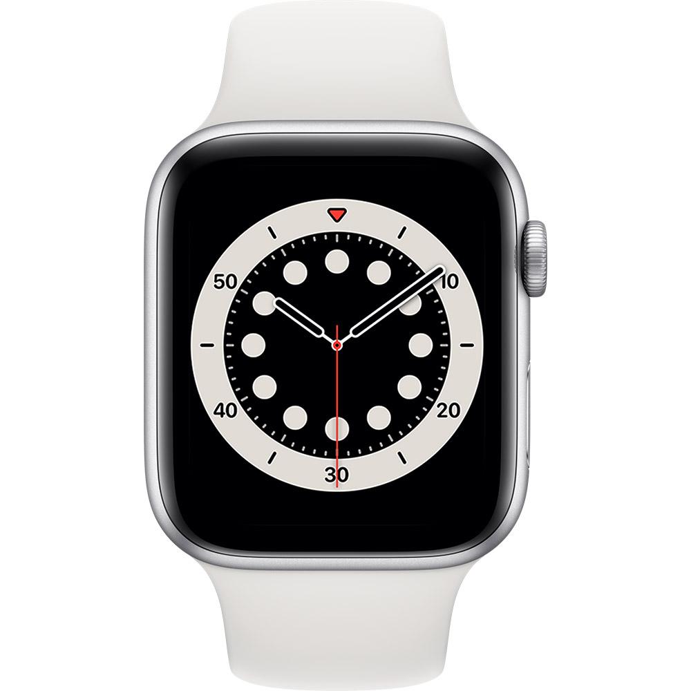 Смарт-часы APPLE Watch S6 GPS 44 Silver Alum White Sp/B (M00D3UL/A) Функциональность для взрослых