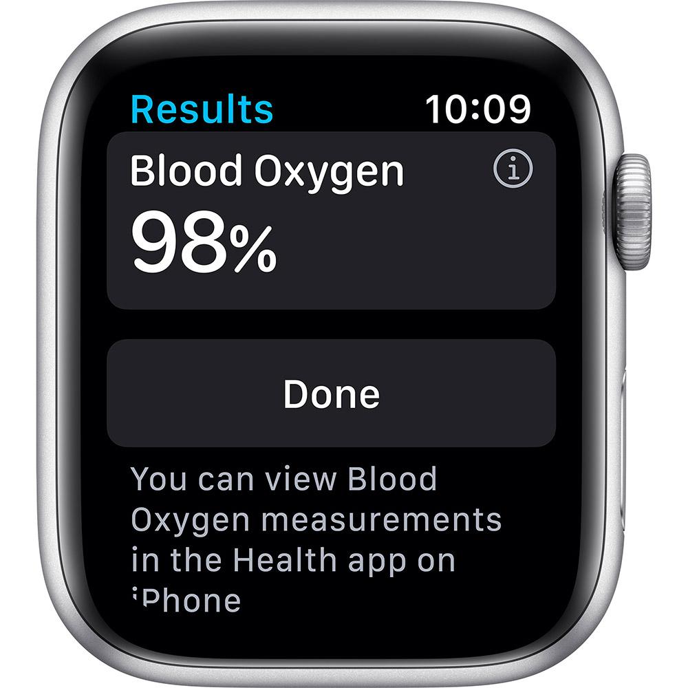 Смарт-часы APPLE Watch S6 GPS 44 Silver Alum White Sp/B (M00D3UL/A) Совместимость iOS (Apple)