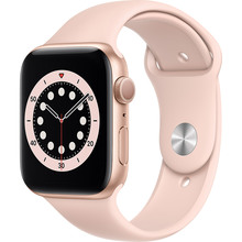 Смарт-часы APPLE Watch S6 GPS 44 Gold Alum Pink Sand Sp/B (M00E3UL/A)