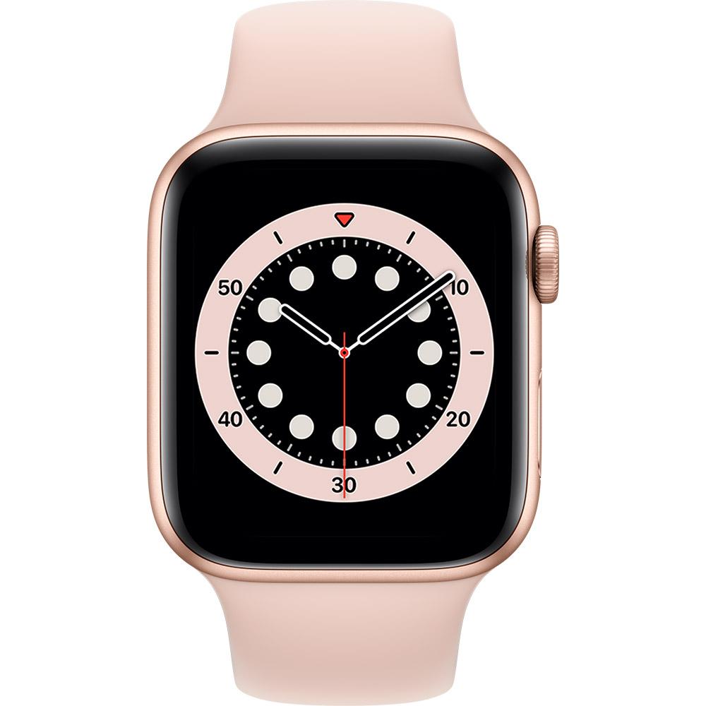 Смарт-часы APPLE Watch S6 GPS 44 Gold Alum Pink Sand Sp/B (M00E3UL/A) Функциональность для взрослых