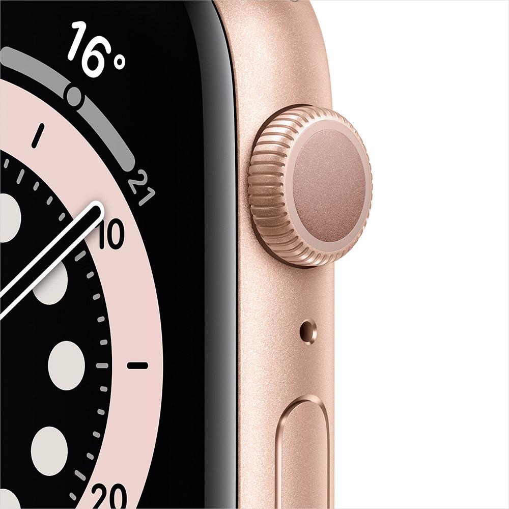 Смарт-часы APPLE Watch S6 GPS 44 Gold Alum Pink Sand Sp/B (M00E3UL/A) Операционная система Watch OS