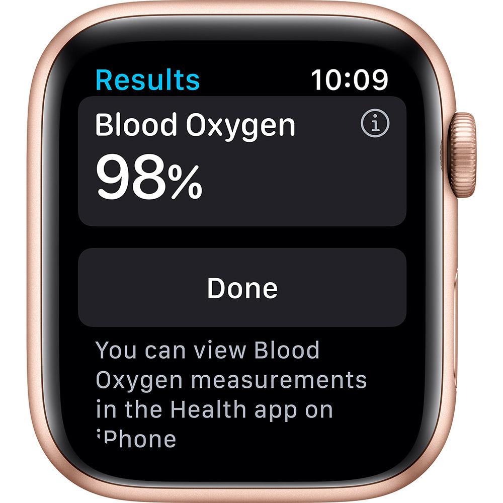 Смарт-часы APPLE Watch S6 GPS 44 Gold Alum Pink Sand Sp/B (M00E3UL/A) Совместимость iOS (Apple)
