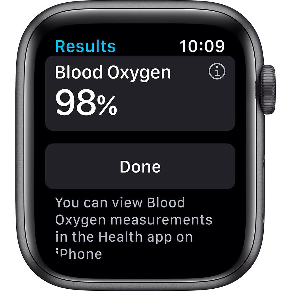 Смарт-часы APPLE Watch S6 GPS 44 Space Grey Alum Black Sp/B (M00H3UL/A) Совместимость iOS (Apple)