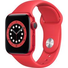 Смарт-часы APPLE Watch S6 GPS 40 Silver Alum Red Sp/B (M00A3UL/A)