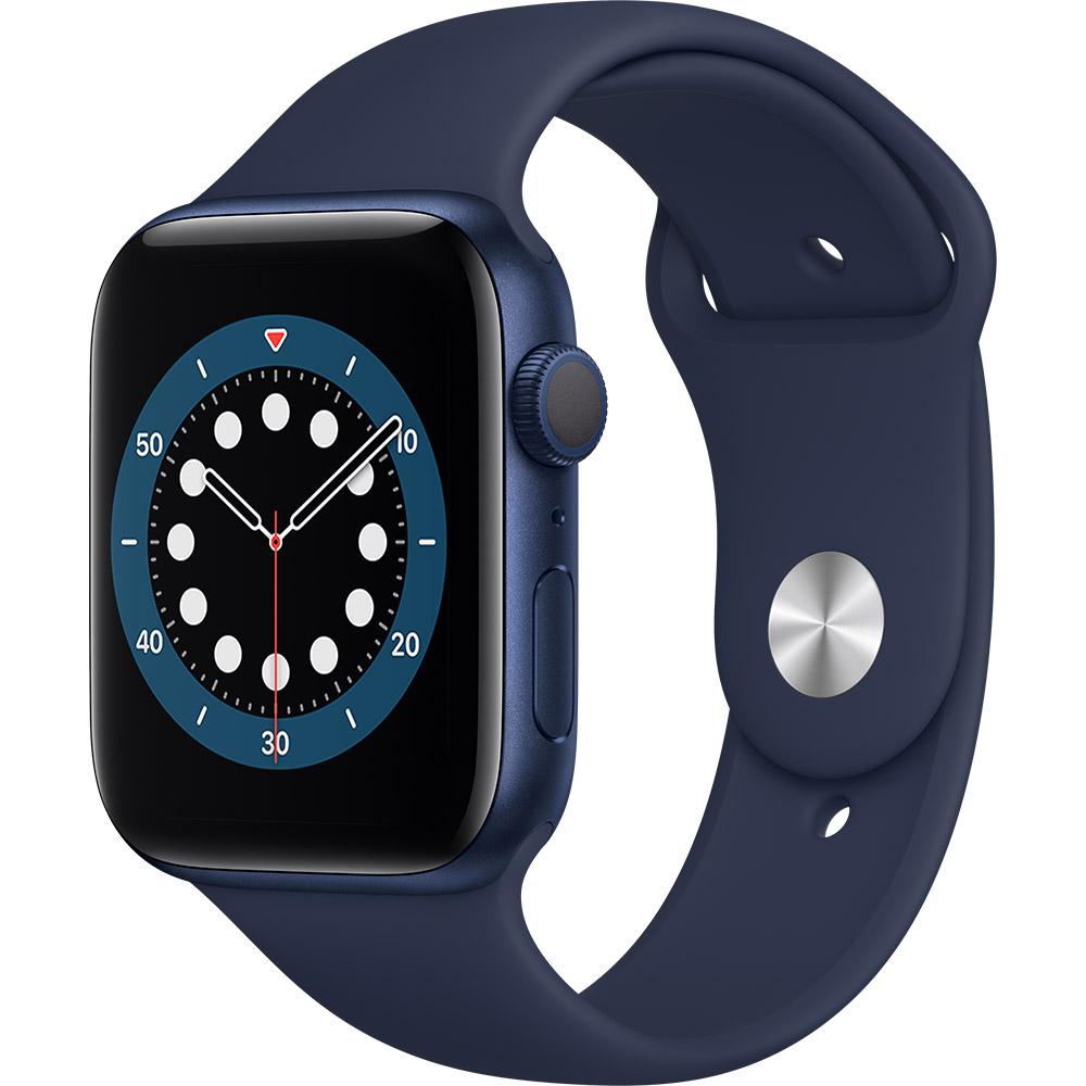 Смарт-часы APPLE Watch S6 GPS 44 Blue Sp/B (M00J3UL/A)