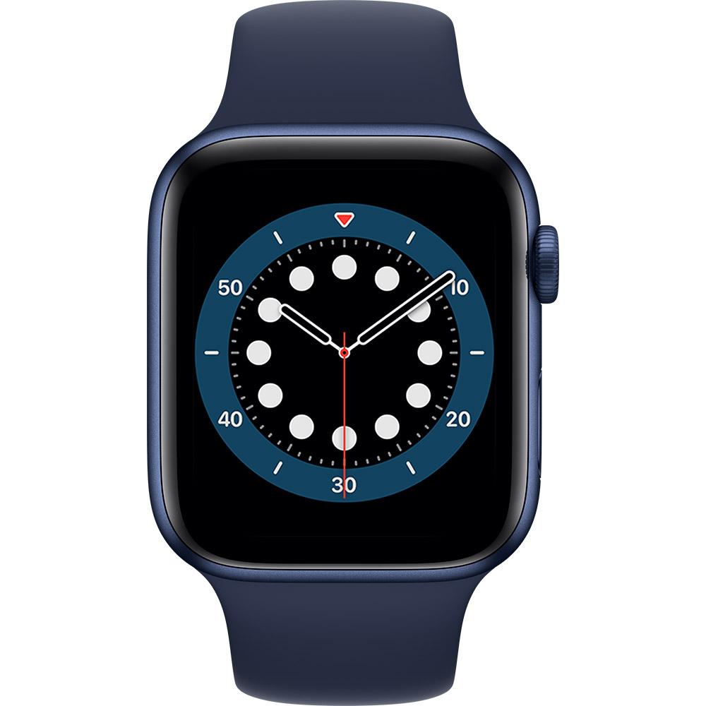Смарт-часы APPLE Watch S6 GPS 44 Blue Sp/B (M00J3UL/A) Функциональность для взрослых