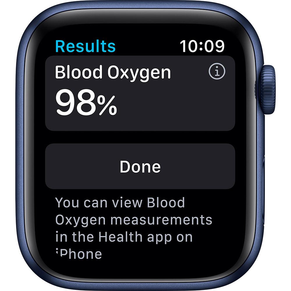 Смарт-часы APPLE Watch S6 GPS 44 Blue Sp/B (M00J3UL/A) Совместимость iOS (Apple)