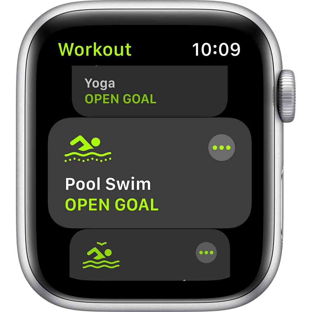 Смарт-часы APPLE Watch SE 44 GPS Silver Sp/B (MYDQ2UL/A) Совместимость iOS (Apple)