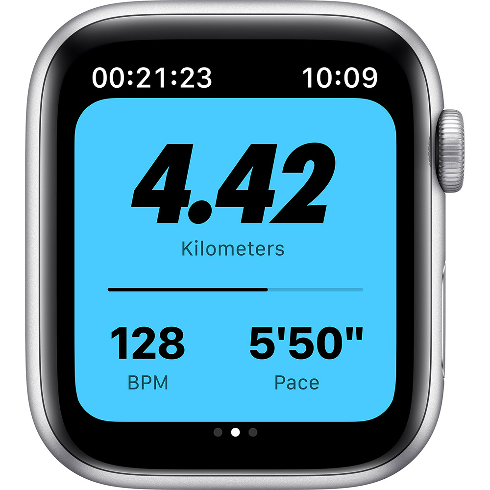 Смарт-часы APPLE Watch Nike SE GPS 44 Silver Alum Platinum/Black (MYYH2UL/A) Совместимость iOS (Apple)
