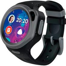 Смарт-годинник для дітей ELARI KidPhone 4G Black Round (KP-4GRD-B)