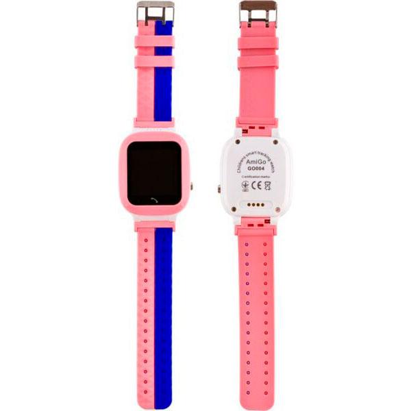 Смарт-часы AMIGO GO004 Splashproof Camera+LED Pink Операционная система другая