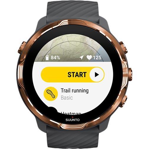 Смарт-часы SUUNTO 7 GRAPHITE COPPER (SS050382000) Функциональность для взрослых