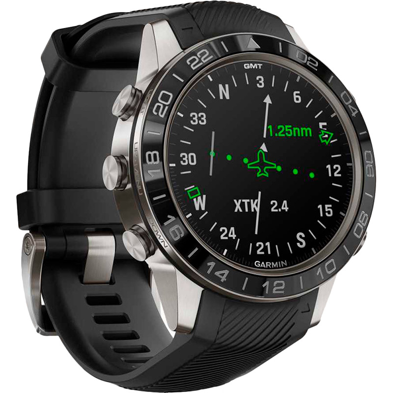 Смарт-часы GARMIN Aviator Black Silicone (010-02567-11) Операционная система другая