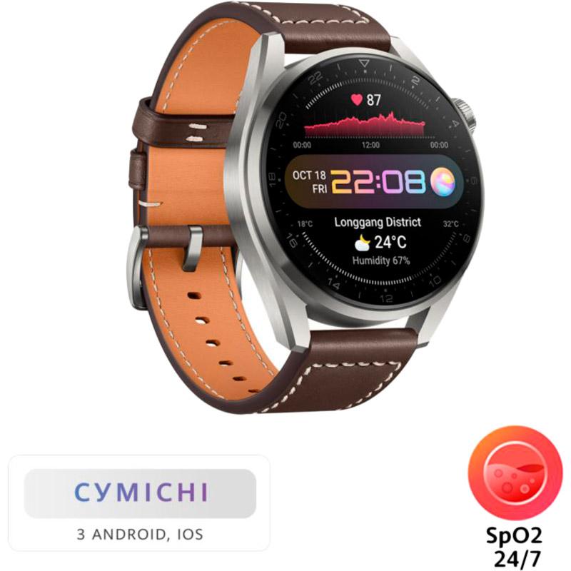 Смарт-годинник HUAWEI Watch 3 Pro Classic Titanium (55026781) Функціональність для дорослих