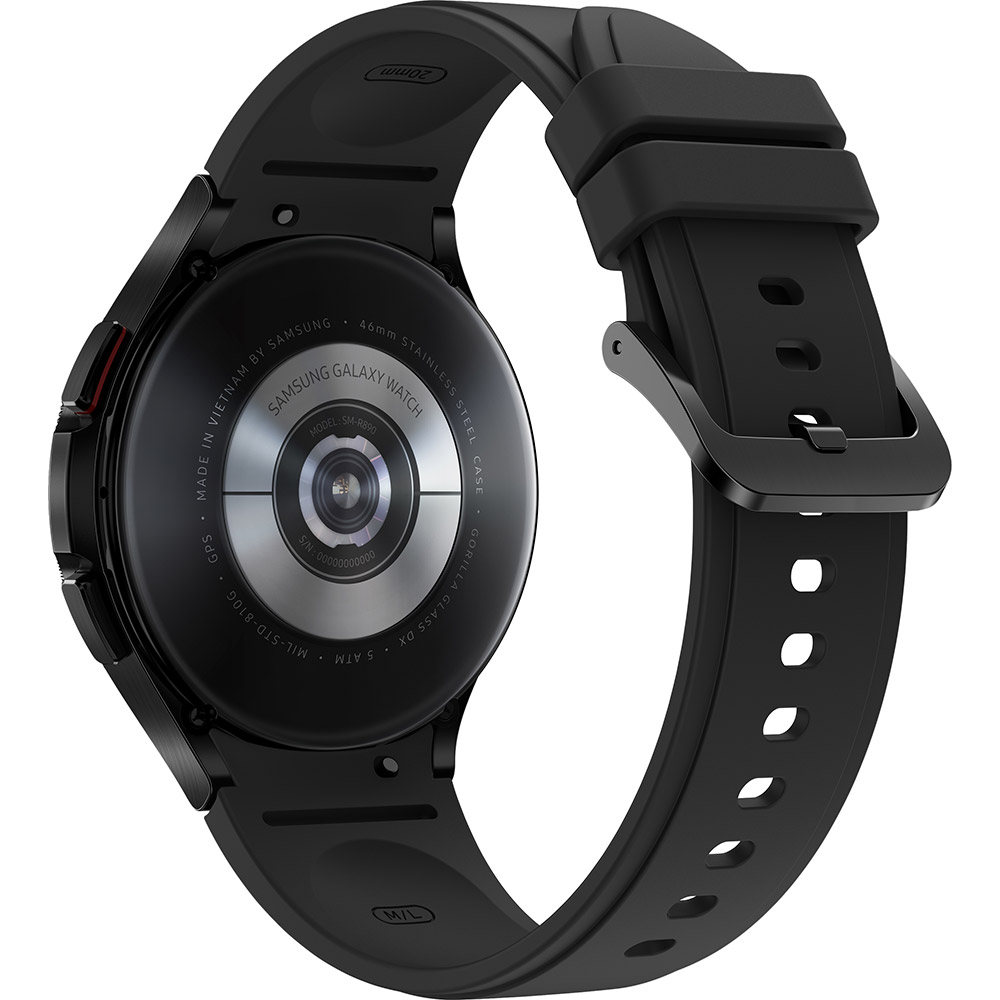 Смарт-часы SAMSUNG Galaxy Watch 4 Classic 46 мм eSIM Black (SM-R895ZKASEK) Совместимость iOS (Apple)