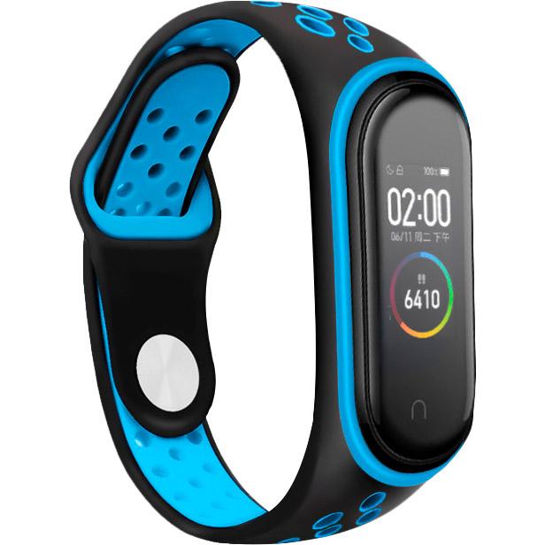 Ремешок BECOVER Nike Style для Xiaomi Mi Smart Band 5 Black-Blue (705150)