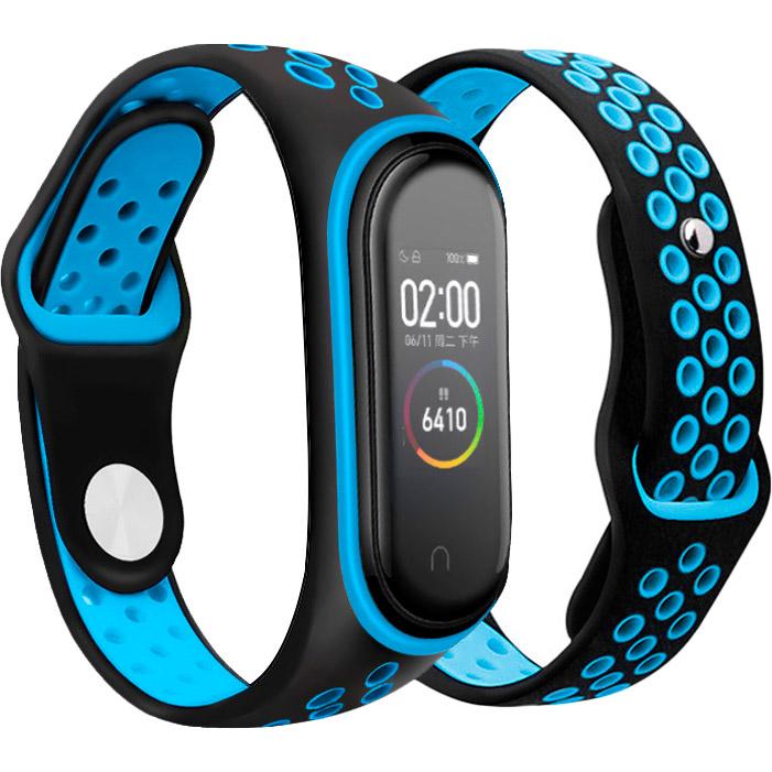 Ремешок BECOVER Nike Style для Xiaomi Mi Smart Band 5 Black-Blue (705150) Тип ремешок